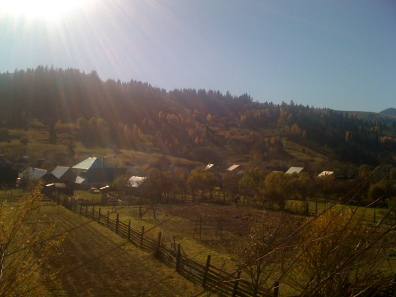 A Romanian village in autumn.