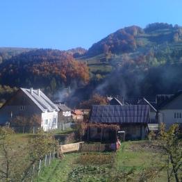 A Romanian village in autumn.