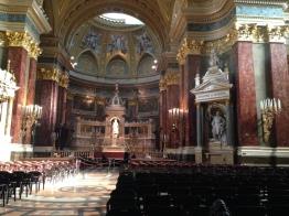 St. Stephen's Basilica interior.